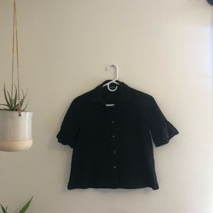 Madewell Black Button Down